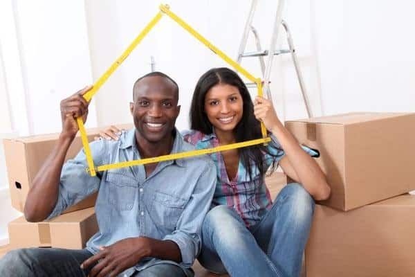african american couple sitting